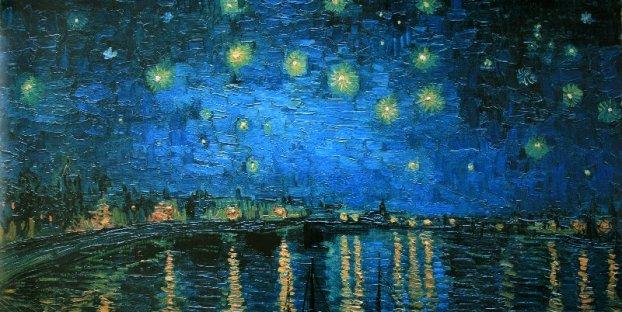Stary Night on the Rohn  Vincent Van Gogh