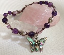 Amethyst and Abolone Butterfly